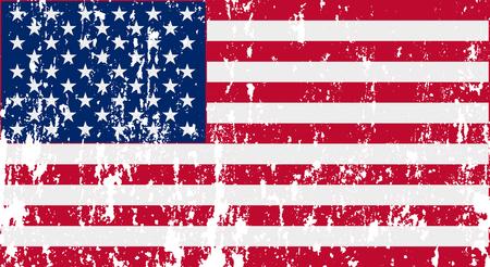 Ilustración de Unusual USA flag. Vector image - Imagen libre de derechos