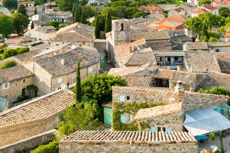Photo for View on a small typical village in Provence in France - Royalty Free Image