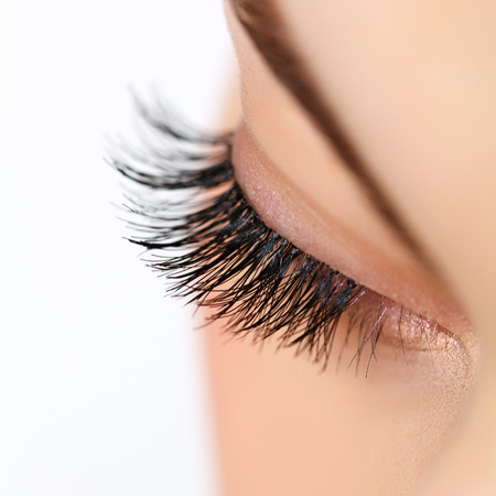 Photo pour Woman eye with long eyelashes - image libre de droit
