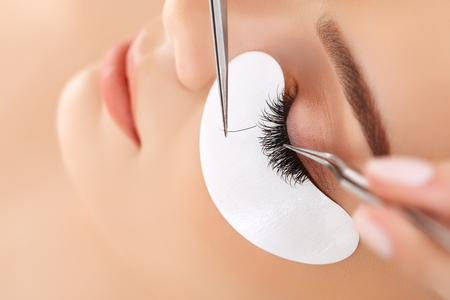 Photo for Woman Eye with Long Eyelashes. Eyelash Extension - Royalty Free Image