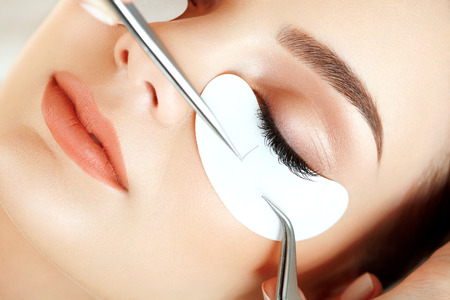 Photo pour Woman Eye with Long Eyelashes. Eyelash Extension - image libre de droit