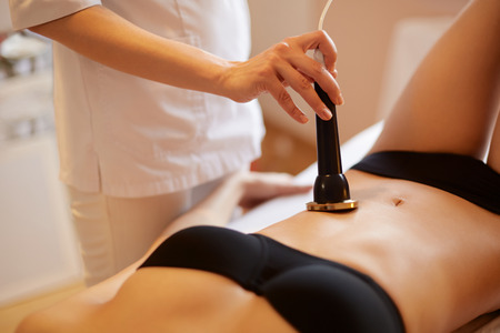 Photo for Body Care. Ultrasound Cavitation Body Contouring Treatment. Anti Cellulite - Royalty Free Image
