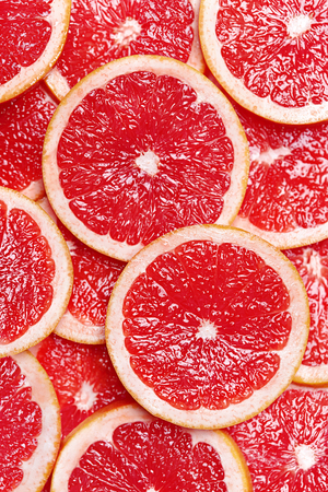 Photo pour Fresh Citrus Fruits Slices Background. Top View. High Resolution. - image libre de droit