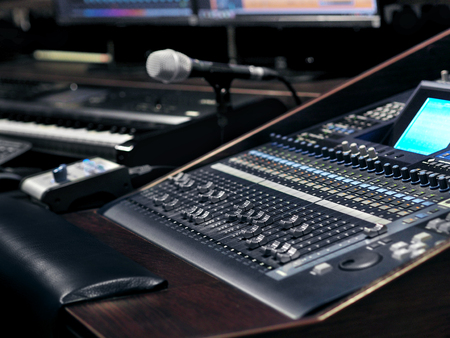Photo for Music Recording Equipment In Sound Recording Studio - Royalty Free Image