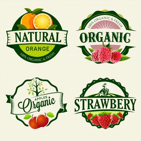 Illustration pour Set of Fresh   Organic labels - image libre de droit