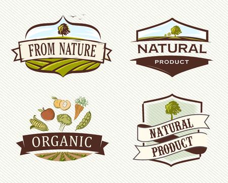 Illustration for Vintage & Retro Organic Badges - Royalty Free Image