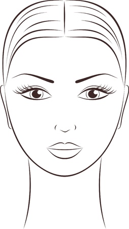 Illustration pour illustration of women s face - image libre de droit