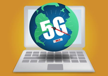 Illustration pour 4g 5g network global Earth Communications networks map of the world Blue map global logistics connections,innovative Big data of iot ai technology in science - image libre de droit