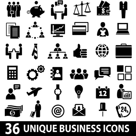 Illustration pour Set of 36 business icons. - image libre de droit
