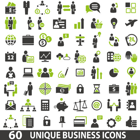 Photo pour Set of 60 business icons. - image libre de droit