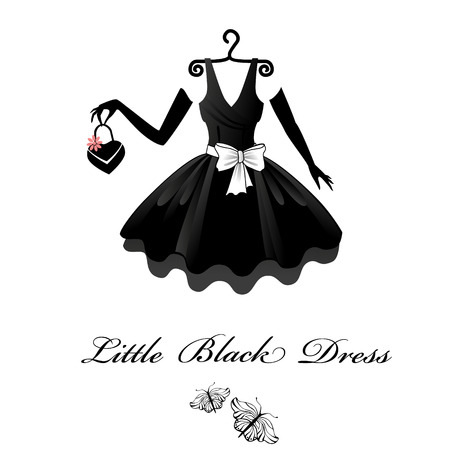 Illustrazione per Little Black Dresses - Immagini Royalty Free