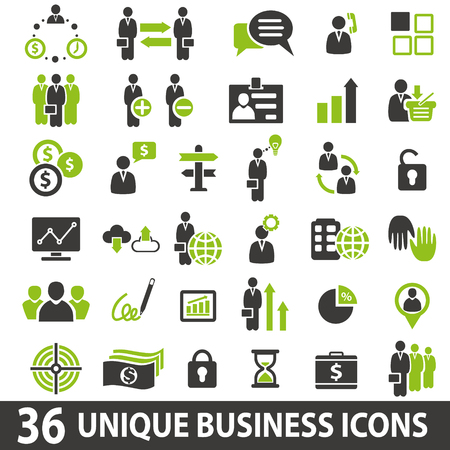 Illustration for Set of 36 business icons. - Royalty Free Image