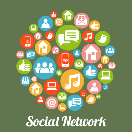 Illustration for Social media and network concept. - Royalty Free Image