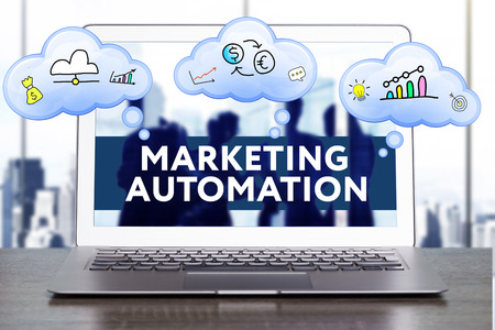 Photo pour Marketing Strategy. Planning Strategy Concept. Business, technology, internet and networking concept. Marketing automation - image libre de droit