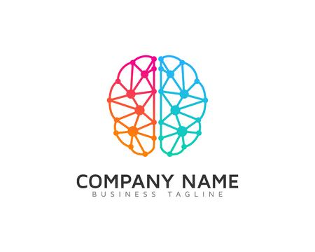 Illustration pour Digital Brain Logo Design Template - image libre de droit