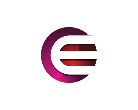 Ilustración de Colorful Modern Letter E Circle Logo Design Template Element - Imagen libre de derechos
