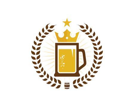 Ilustración de Beer Logo Icon Design - Imagen libre de derechos