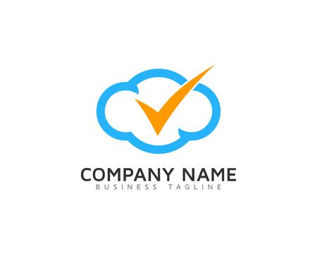 Illustration pour Mark Cloud Logo Icon Design - image libre de droit