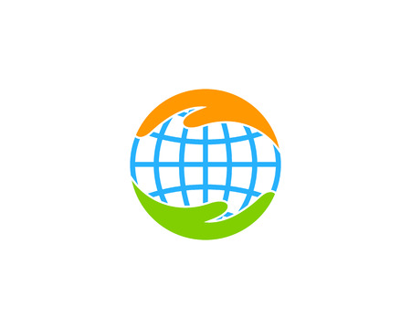 Illustration for Care Earth Icon Design - Royalty Free Image