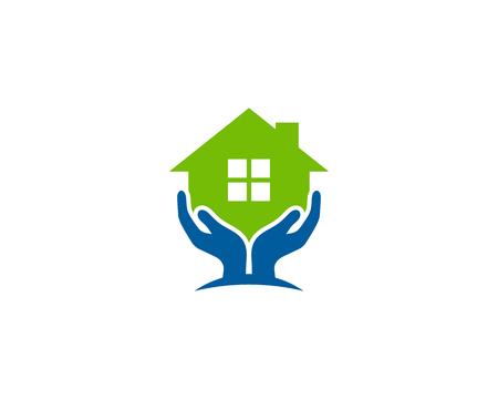 Ilustración de Care Home Logo Icon Design - Imagen libre de derechos