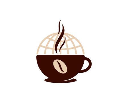 Illustration for Coffee World Logo Icon Design - Royalty Free Image