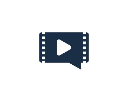 Illustration pour Chat Video Logo Icon Design - image libre de droit