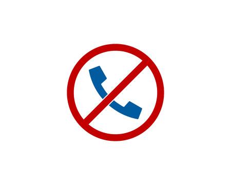 Ilustración de No Call Icon Design in white background. - Imagen libre de derechos