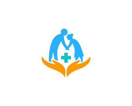 Illustration for Medical Care Logo Icon Design - Royalty Free Image