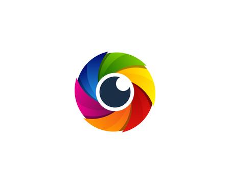 Ilustración de Lens Vision Logo Icon Design - Imagen libre de derechos