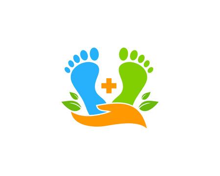 Ilustración de Care Foot Logo Icon Design - Imagen libre de derechos
