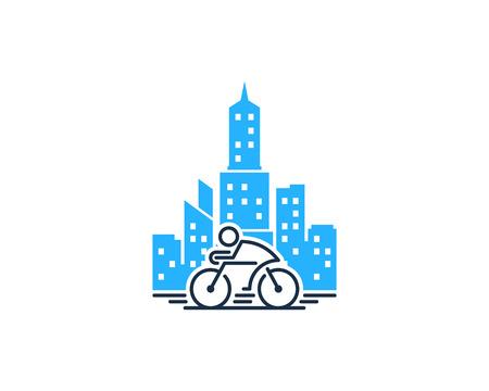 Illustration pour Bike Town Icon Design vector illustration. - image libre de droit
