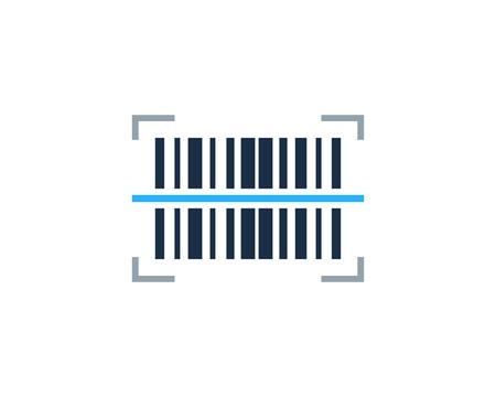 Illustration pour Scanning Barcode Logo Icon Design - image libre de droit