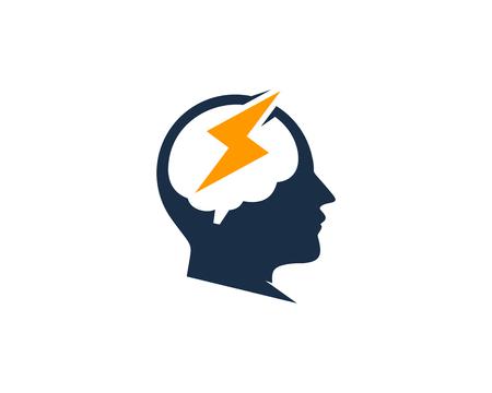 Ilustración de Energy head Logo Icon Design - Imagen libre de derechos