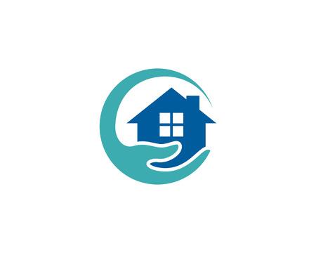 Photo pour Care Home Logo Icon Design. - image libre de droit