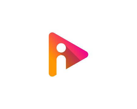 Illustration for Letter I Icon Logo Design Element - Royalty Free Image