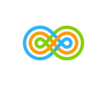 Illustration pour Infinity Icon Logo Design Element - image libre de droit