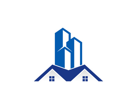 Ilustración de Real Estate Icon Logo Design Element - Imagen libre de derechos