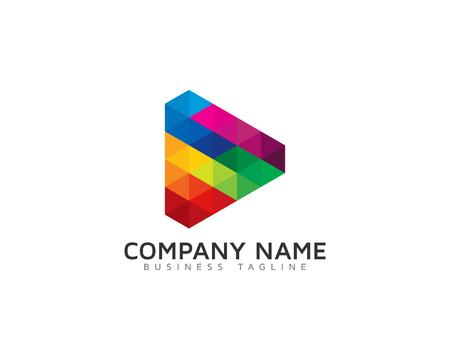 Illustration for Video Icon Logo Design Element - Royalty Free Image