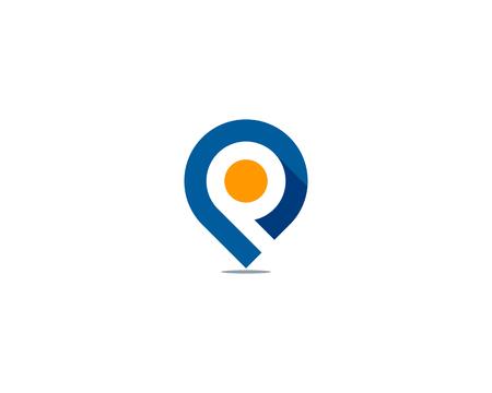 Ilustración de Letter P Icon Logo Design Element - Imagen libre de derechos