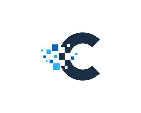 Photo pour Letter C Icon Design Element - image libre de droit