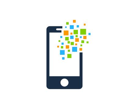 Illustration pour Mobile Phone Icon Logo Design Element - image libre de droit