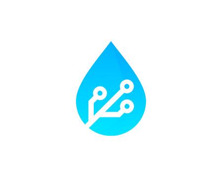 Ilustración de Water Icon Logo Design Element - Imagen libre de derechos
