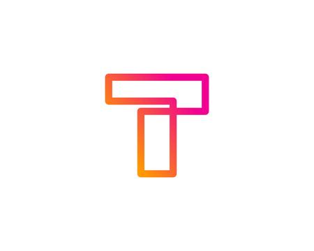 Foto für Letter T Icon Logo Design Element - Lizenzfreies Bild