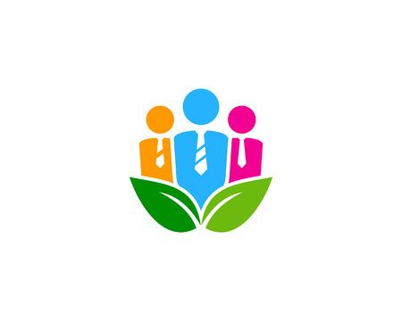 Ilustración de Job Icon Logo Design Element - Imagen libre de derechos
