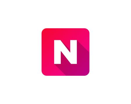 Ilustración de Modern Gradation Shadow Letter N Icon Logo Design Element - Imagen libre de derechos