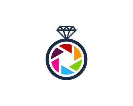 Ilustración de Diamond Icon Logo Design Element - Imagen libre de derechos