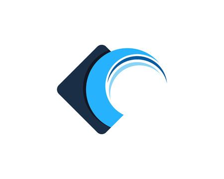 Illustration pour Wave Icon Logo Design Element - image libre de droit