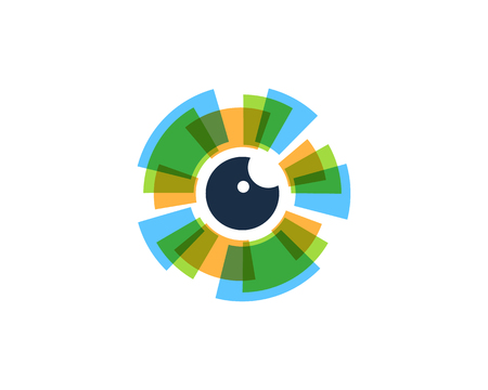 Illustration pour Eye Icon Logo Design Element - image libre de droit