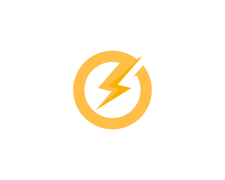 Illustration for Power Energy Icon Logo Design Element - Royalty Free Image