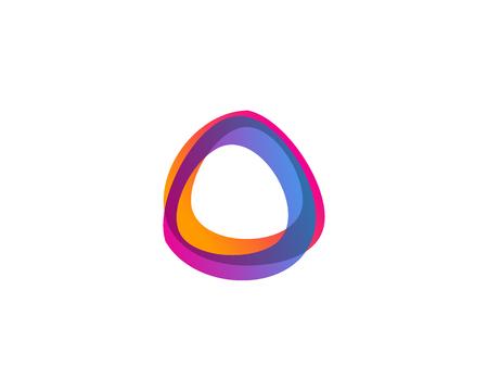 Illustration for Letter O Icon Logo Design Element - Royalty Free Image